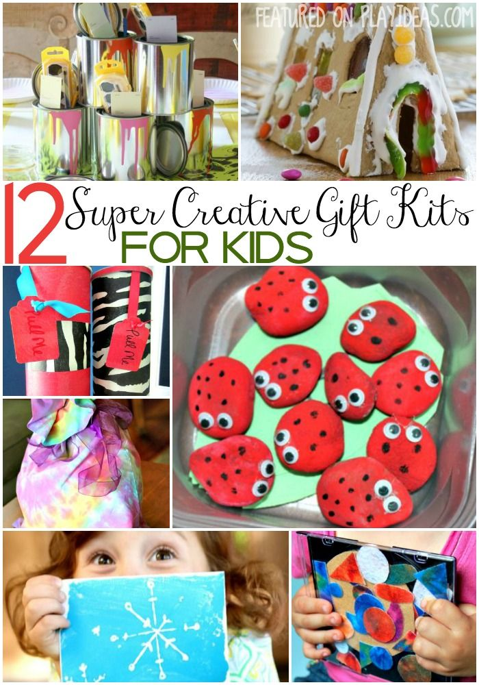 Awaken your kids' imaginations with these creative gift kits for kids! They'll be thrilled when they open these gifts and see all the fun things to make!