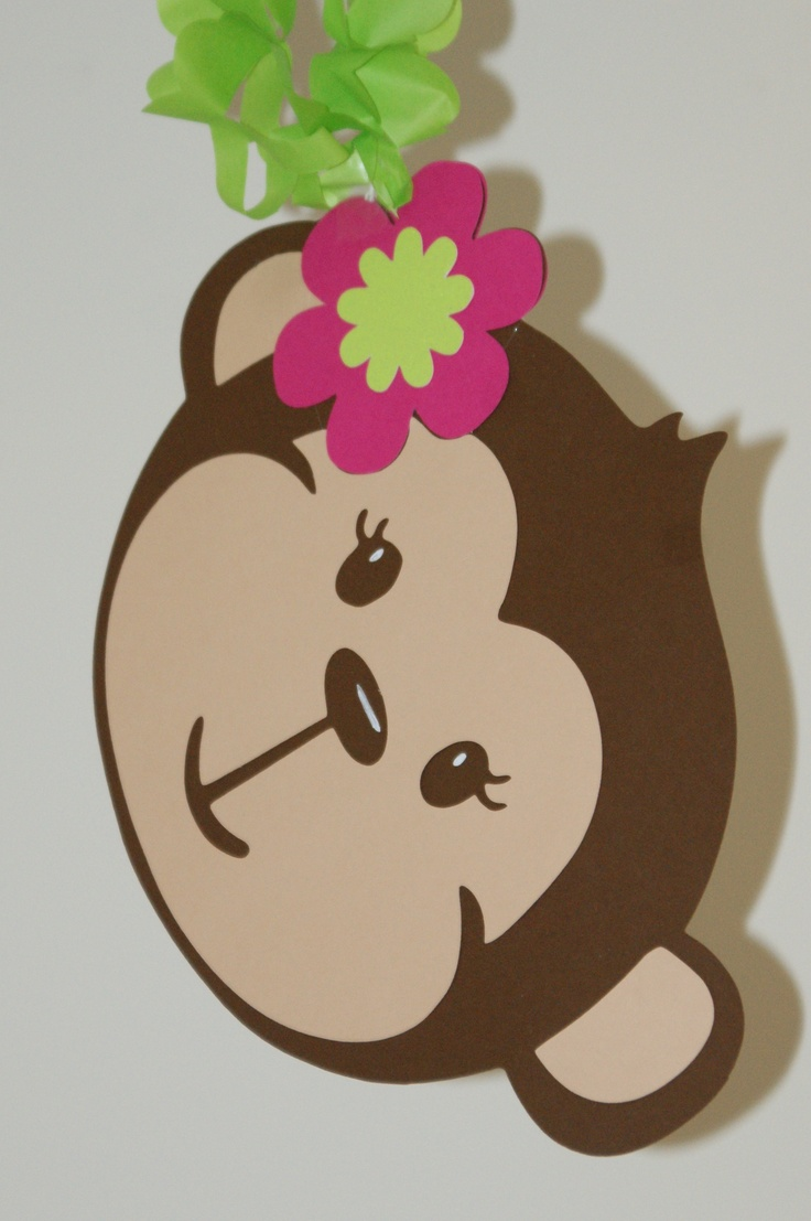 Hanging Monkey Decoration Claire 39 S Birthday Pinterest Monkey Decorations Monkey And