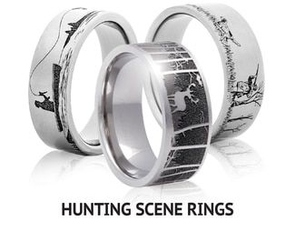 Outdoor Camo Rings Mens Camo Wedding Bands Titanium Buzz Camo