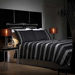 J by Jasper Conran - Black 'Park Avenue' bed linen