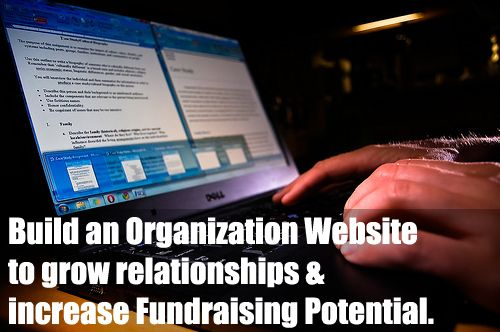 A #Fundraising Website will help develop relationships and will increase your fundraising potential! Click on photo to find out more and to learn how to set one up. (Photo by Ryan Hyde / Flickr.com)