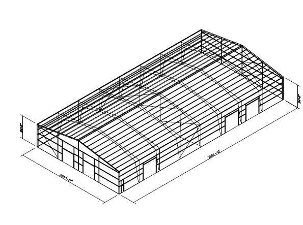 100x200 Prefab Building Metal Buildings For Sale Metal Buildings Metal Building Kits