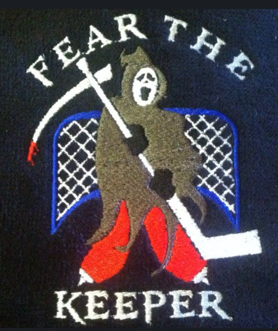Embroidered Goalie Skate Towel Personalized the Name, Number, or Monogram for No Extra Charge by TootsiesGirls on Etsy