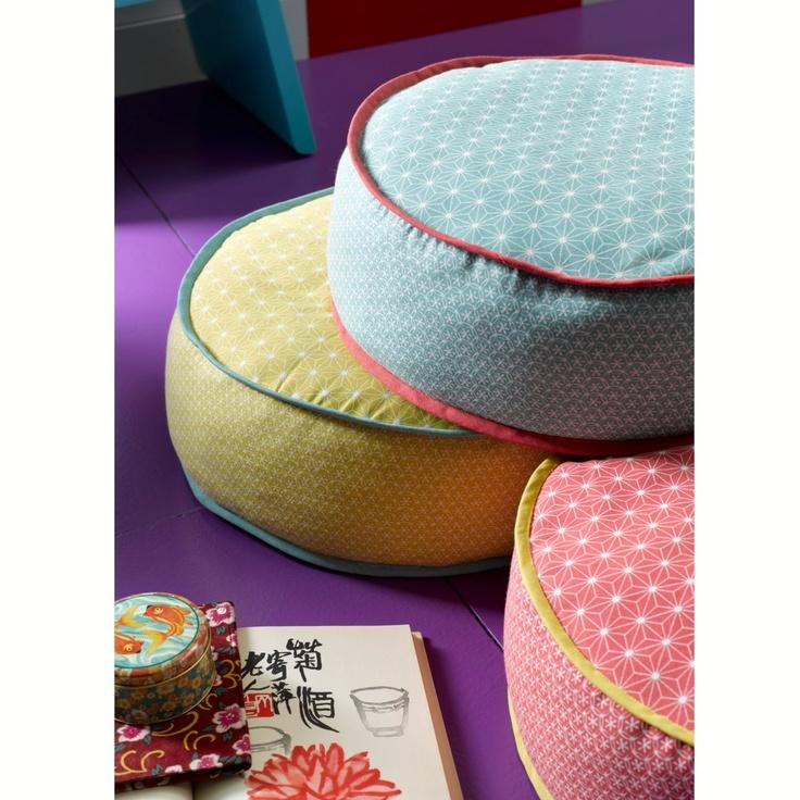 Puf redondo estampado - OTRAS - Habitación - Textil & Deco