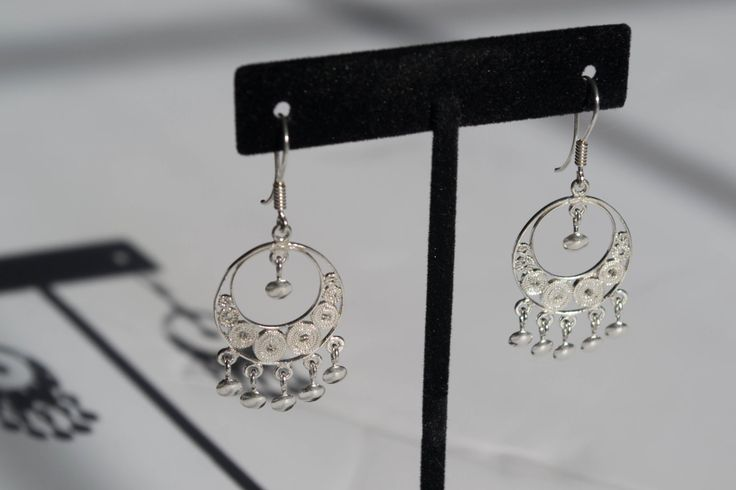 Unique Silver Earrings by SilverLeafJewelryCo on Etsy