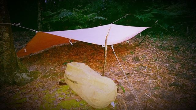 @terra_rosa_gear cotton japara tarp pitched hootchie-style in anticipation of…