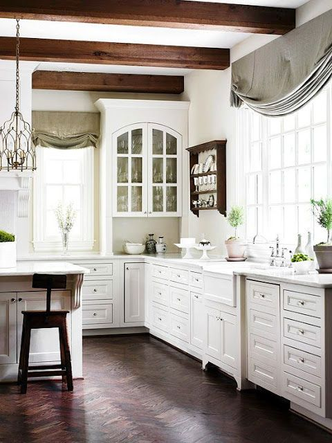 25 Kitchens with Wood Beams | Elegant kitchens, Home ...