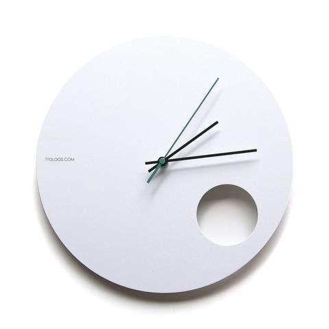 White Hole Wall Clock