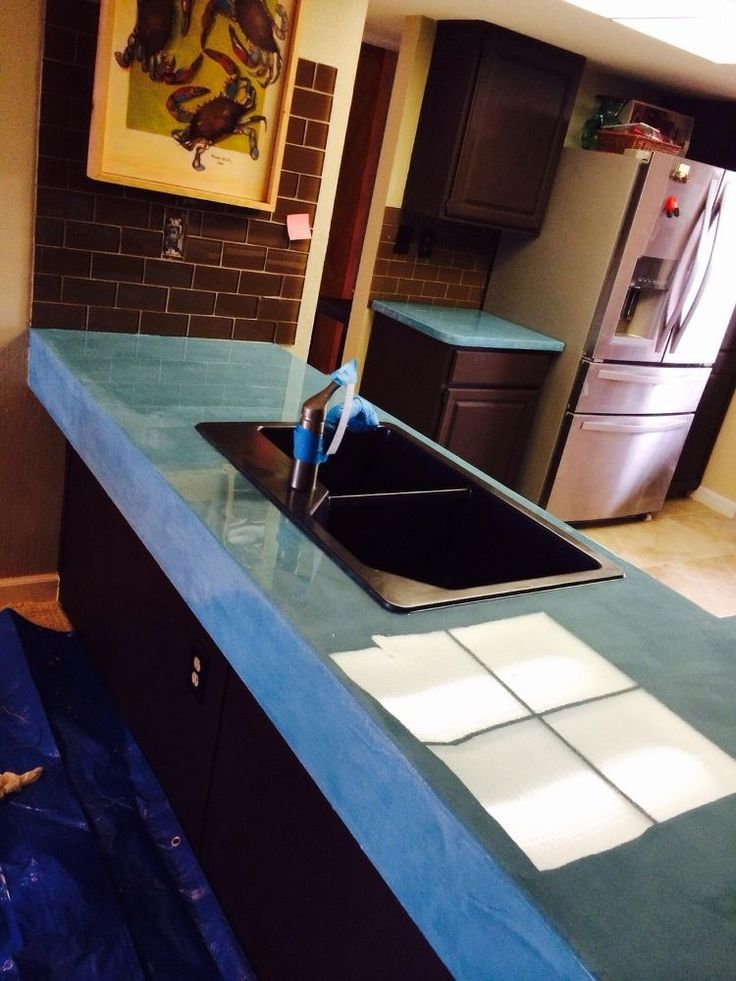 Why Over 1 Thousand People Have Pinned This Countertop Makeover Idea