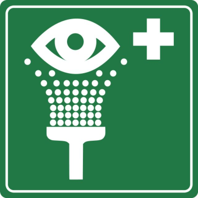 Free Lab Safety Signs: Eyewash Sign or Symbol - Free Images