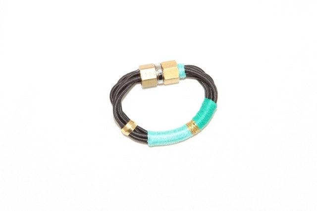 Tribal turquoise bracelet. $45.00, via Etsy.