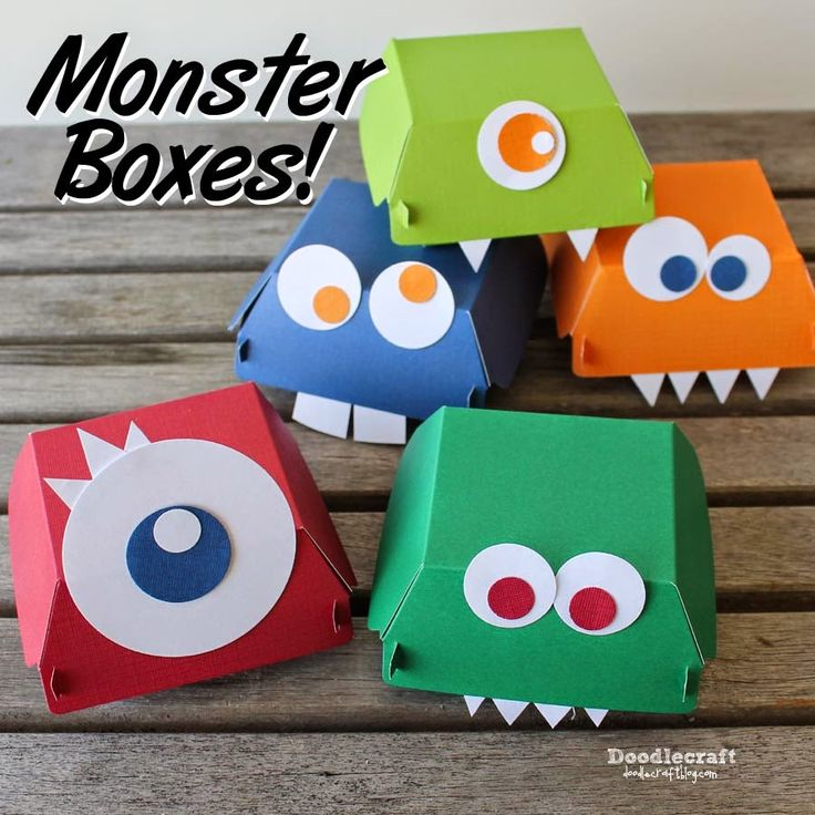Doodlecraft: Stampin' Up! Hamburger Box Monsters