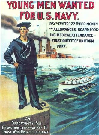 "this is hanging in Mel's room    Navy Enlistment Poster: ""Young Men Wanted for U.S. Navy."" #vintageposters"