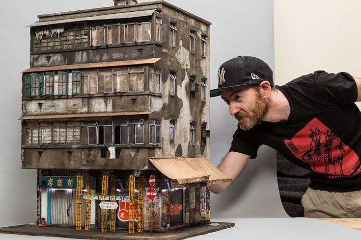 joshua smith miniaturizes hong kong urban life through tiny architectural settings