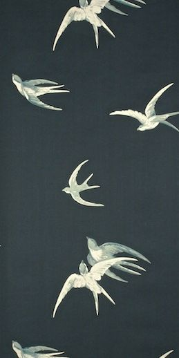 #Swallows - This wallpaper would be beautiful for my 10 year old daughters room, not to 'little girl' not to grown up (only on one wall)