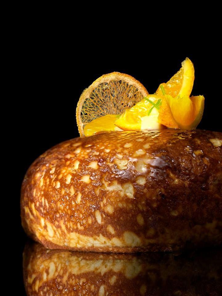 """Chef Lilian Bonnefoi Restaurant """"Eden Roc"""" gâteau de crêpes soufflées"""