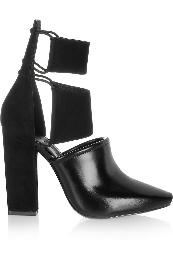 Alexander Wang | Mackenzie suede and leather ankle boots | NET-A-PORTER.COM