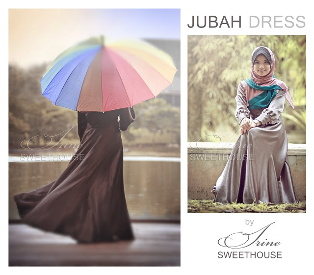 jubah dress satin