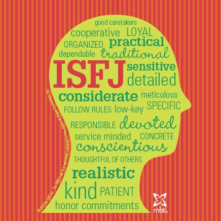 Check out this ISFJ type head!   #ISFJ #mbti myersbriggs