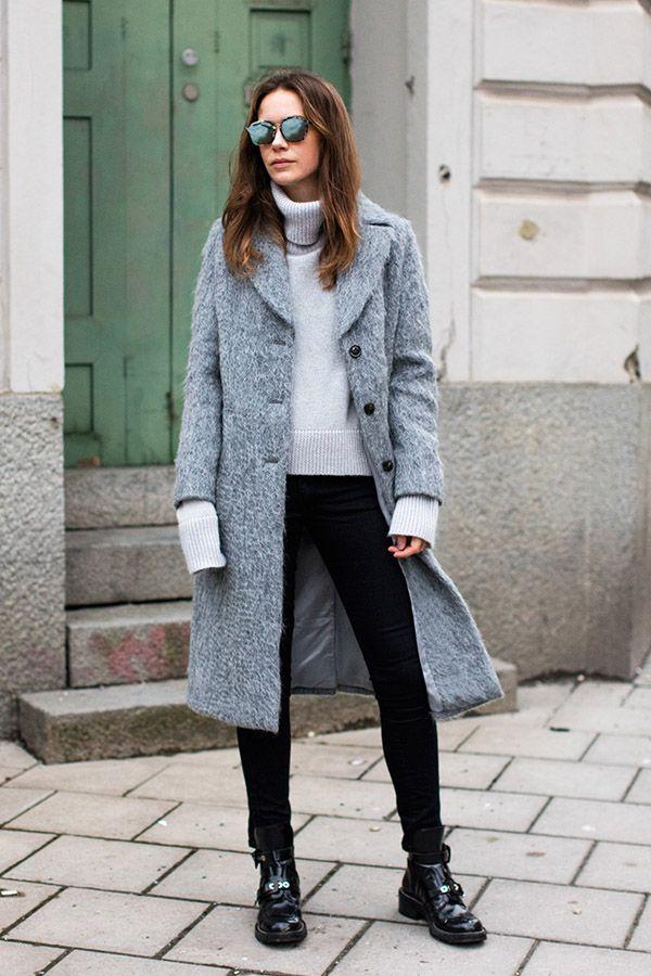 O tricot de gola alta é peça indispensável no guarda-roupa
