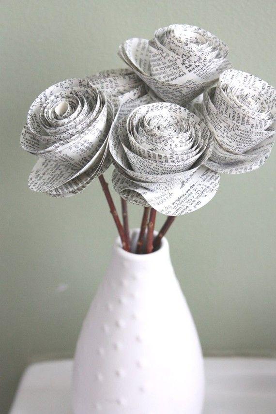Букеты из газеты своими руками, цветов