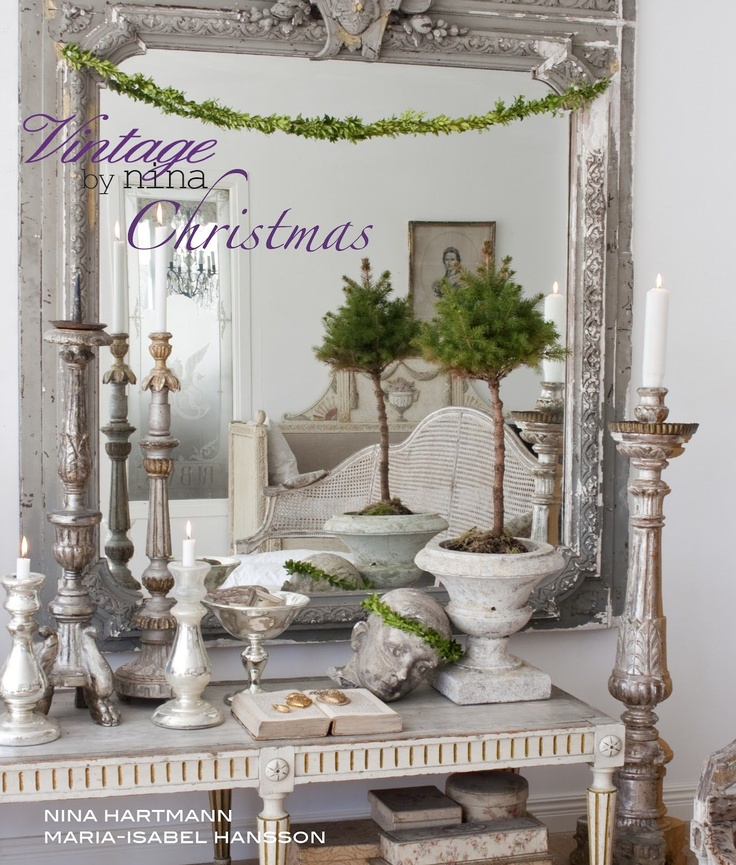 Christmas Decorating: Vintage by Nina featured at Burlap Luxe. #decorating #toneontone
