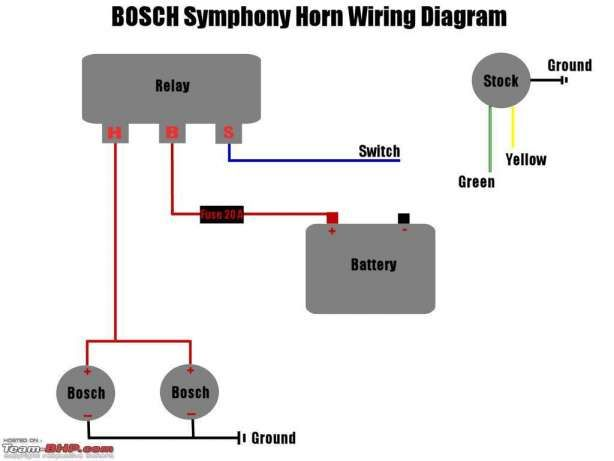 Motorcycle Horn Relay Diagram And Pole Relay Wiring Diagram For Horn Wiring Diagrams