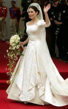 danemark mary robes de mariée, mère de perle