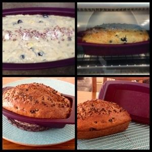 Banana berry bread with Epicure's berry fruit dip.