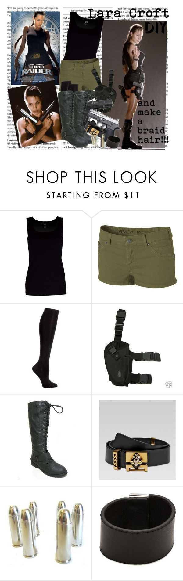 """Lara Croft"" by ginevra-bak ❤ liked on Polyvore featuring ANGELINA, LARA, RVCA, Cole Haan, Gucci, Petit Bateau and Marc by Marc Jacobs"