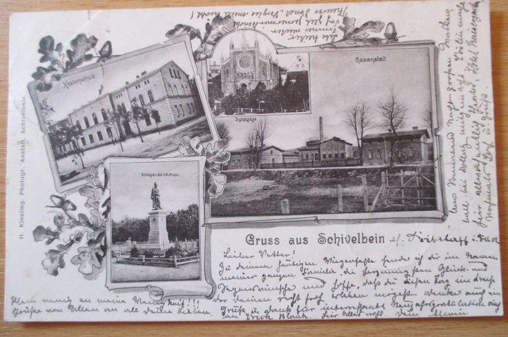 alte Ansichtskarte Synagoge Schivelbein Świdwin Westpommern 1901 gelaufen | eBay
