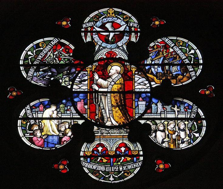 St. Pope Pius V Prayer Stained glass art, Art, Glass art