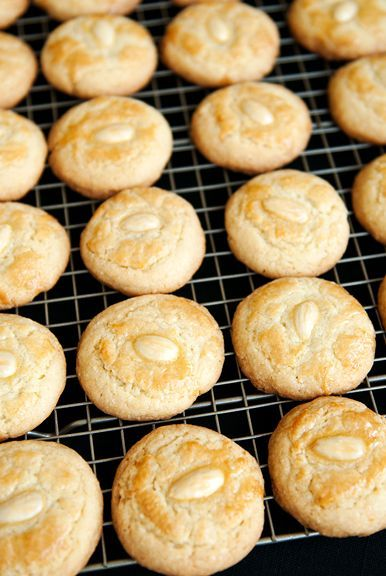 Chinese almond cookies -oh I loved these from the store in the pink ...