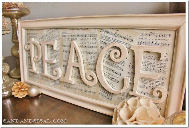 Vintage Paper Peace Sign