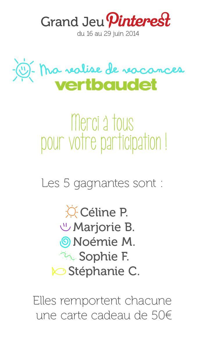#GrandJeuMaValisedeVacances avec @vertbaudet : les gagnants !