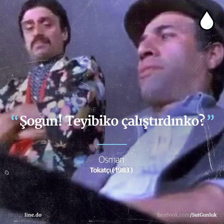 Şogun! Teyibiko çalıştırdınko?   - Osman, Tokatçı (Kemal Sunal, 1983)  #sözler #anlamlısözler #güzelsözler #manalısözler #özlüsözler #alıntı #alıntılar #alıntıdır #alıntısözler #filmreplikleri #filmsözleri #film