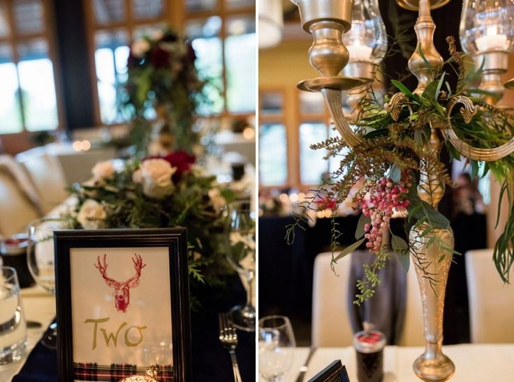 Photos by FunkyTown Photography.  More of the tables and centerpieces for the wedding reception at Church and State