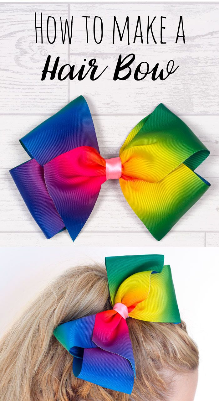 Make your own DIY JoJo Bow! Huge boutique hair bow craft tutorial. How to make a jojo bow. Great for dance bows!