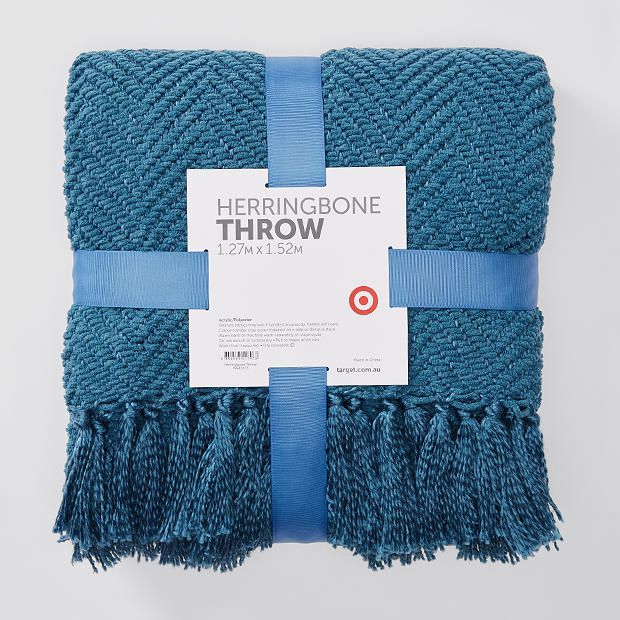 Herringbone Throw - Teal