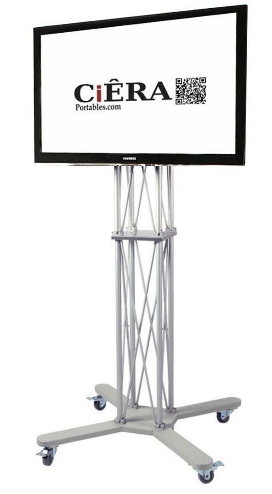 Amazon.com: CiERA Portables EZ Fold Mobile Portable TV Stand for 28-70 Inch TV's - Silver: Kitchen & Dining