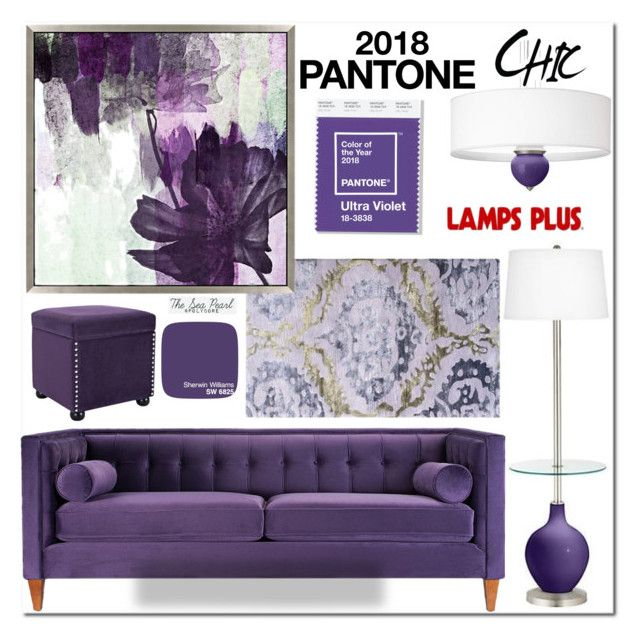 """2018 Color of the Year: Ultra Violet"" by theseapearl ❤ liked on Polyvore featuring interior, interiors, interior design, home, home decor, interior decorating, Jennifer Taylor, contestentry, lampsplus and polyPresents"