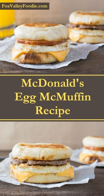 McDonald's Egg McMuffin Recipe