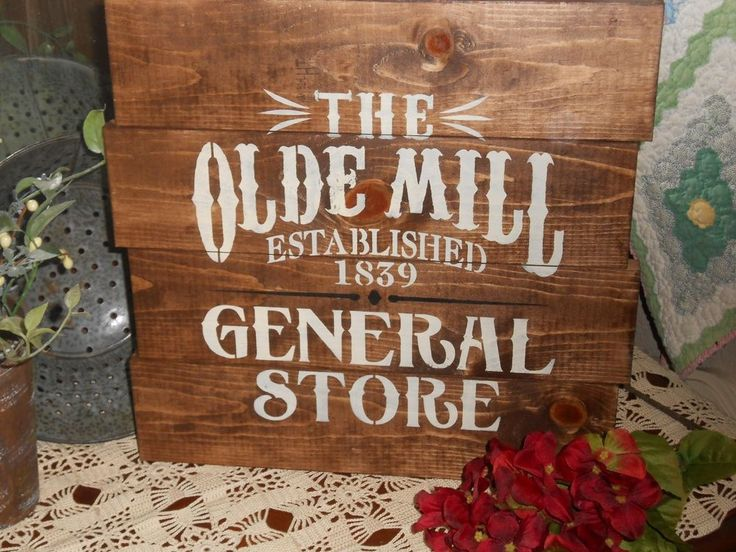 The Olde General Store    primitive wood sign  #RusticPrimitive