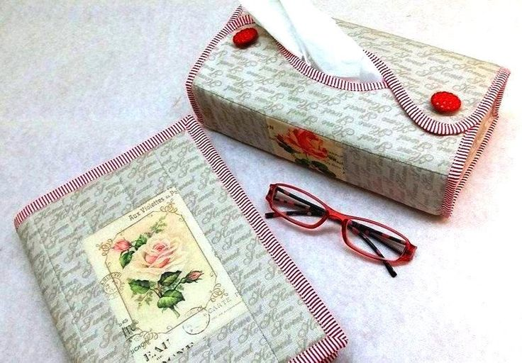 ❀ Cena: 300 CZK + 60 CZK doprava ❀ Sada pro červenou knihovnu :). Obal na knížku o rozměrech 28x17cm a obal na kapesníčky ve stejných barvách, 100% bavlna   vavavu