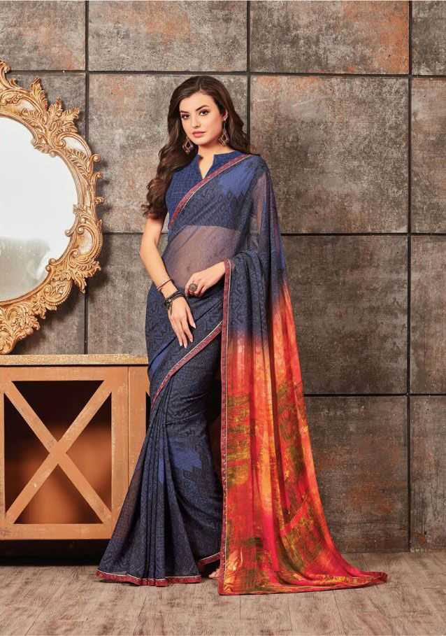 313220b251 Buy georgette digital printed saree catalog from Sethnic wholesale supplier  in surat