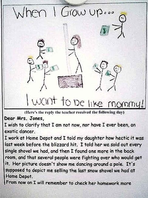 HILARIOUS!!! Oh kids... gotta love 'em!!Kids Homework, Laugh, Children, Too Funny, Funny Stuff, So Funny, Funny Kids, Drawing, Teachers