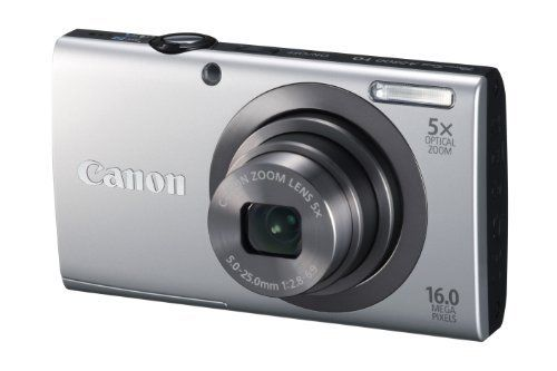 Canon PowerShot A2300 IS 16.0 MP Digital Camera with 5x Optizal Image Stabilized Zoom 28mm Wide-Angle Lens with 720p HD Video Recording (Silver) by Canon, http://www.amazon.com/dp/B0075SUHKI/ref=cm_sw_r_pi_dp_wdrwrb070GZK2