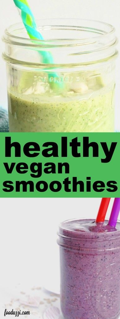 Healthy Vegan Smoothie Recipes for the New Year: Looking for some delicious plant-based smoothie recipes to start your 2016 off on the right foot? These heathy gluten free and vegan smoothies are perfect morning, noon, or night! || fooduzzi.com recipes