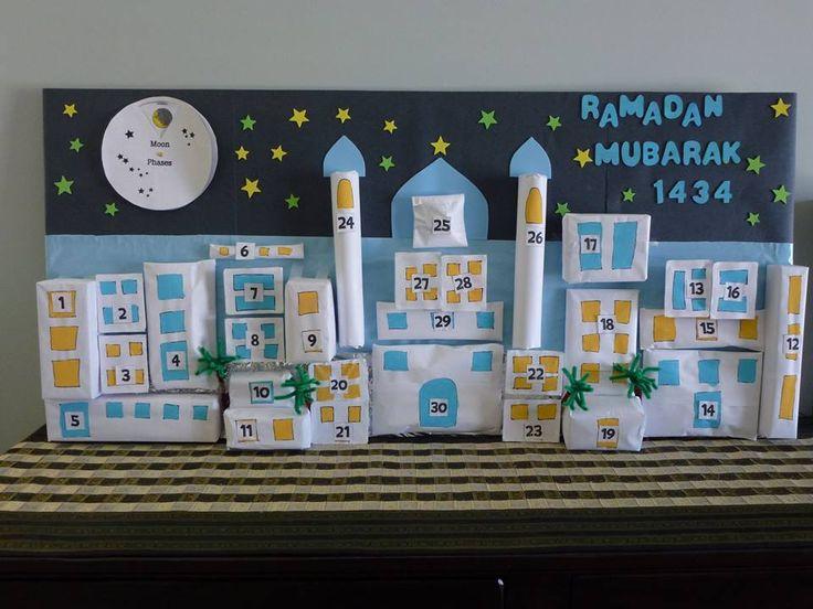Voici plusieurs idées de calendrier de ramadan à faire avec les enfants.