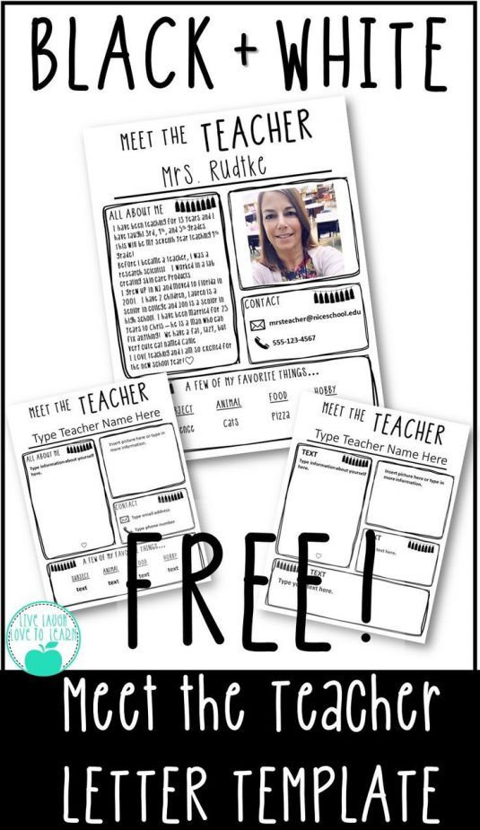 Get ready for Back to School with this FREE editable Meet